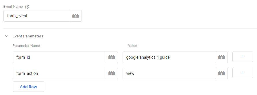 Google Analytics 4 event parameters setup