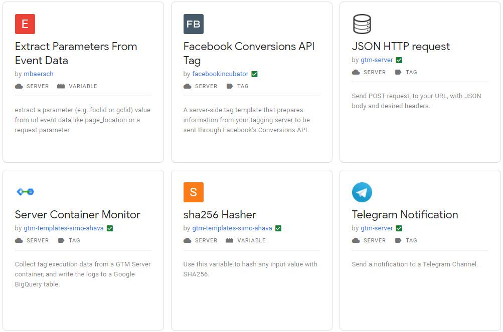 Google Tag Manager Server Side Templates